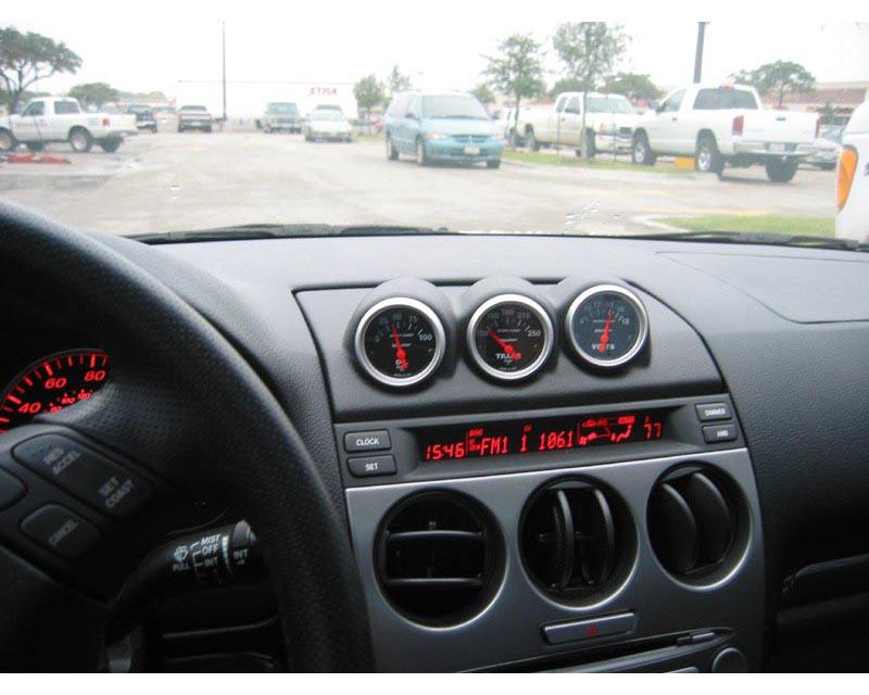 Lotek Triple Bullet Pod Dash Panel Mazda 6 03-08 - LTK-MAZDA6-3DSH