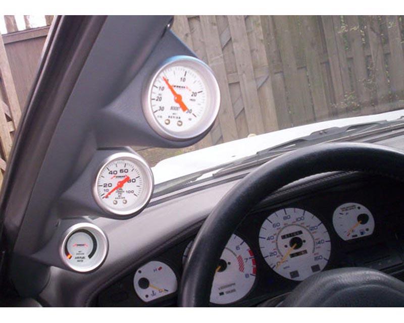 Lotek Triple A-Pillar Pod Toyota Supra 87-93 - LTK-SUPRA8793-3PLR