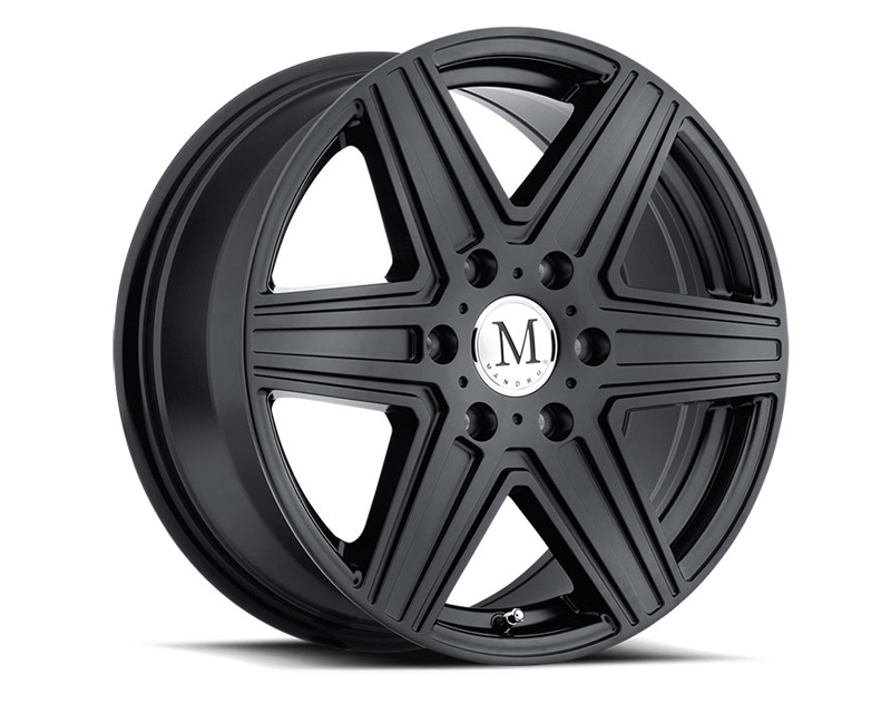 Mandrus Atlas Matte Black Wheel 17x7.5 6x130 +56mm - MA-1775MAT566130M84