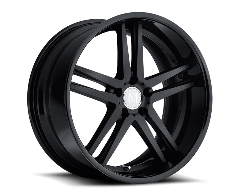Mandrus Simplex Matte Black with Gloss Black Lip Multi-Piece Wheel 19x9.5 5x112 +25mm - MA-1995MAP255112M66