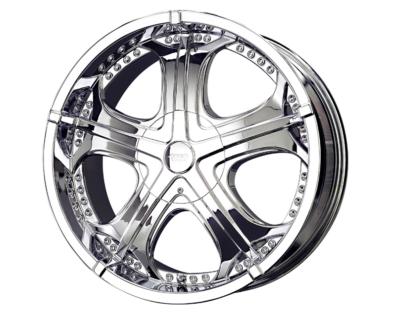 MB Wheels GTX 22X9.5 5x135/139.7  18mm Chrome