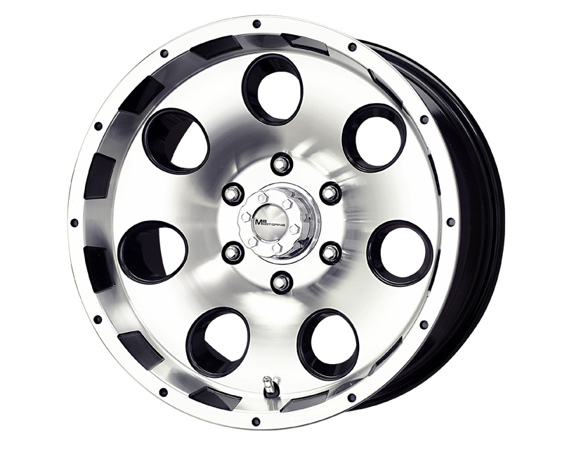 MB Wheels Razor 17X8.5 6x139.7HR -6mm Black Machined Face