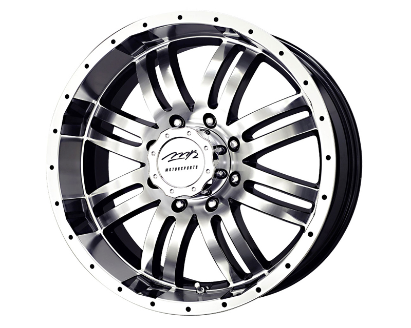 MB Wheels V-Drive 22X9.5 5x139.7 25mm Black Machined Face