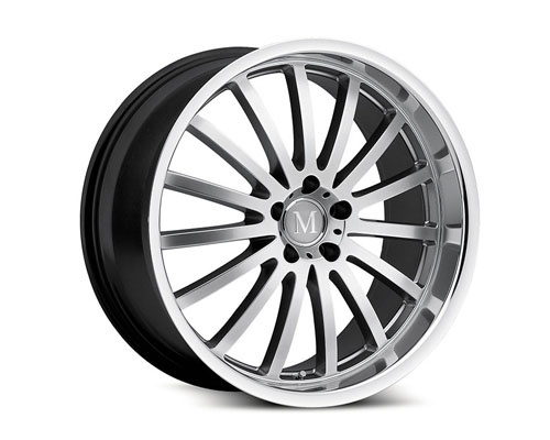 Mandrus Millenium 19X8.5  5x112  32mm Hyper Silver Machined Lip - MA-1985MAM325112S66