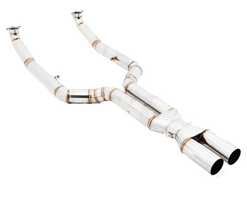 Meisterschaft Stainless LXR Pipe Full Catback Pipe with velocity box BMW M6 TT 13-19 - BM1603002