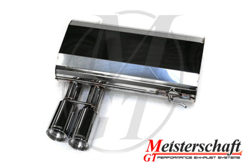 Meisterschaft Stainless HP Touring Axle Back Muffler BMW 330i/xi Coupe / Convertible 05+ - BM0361101
