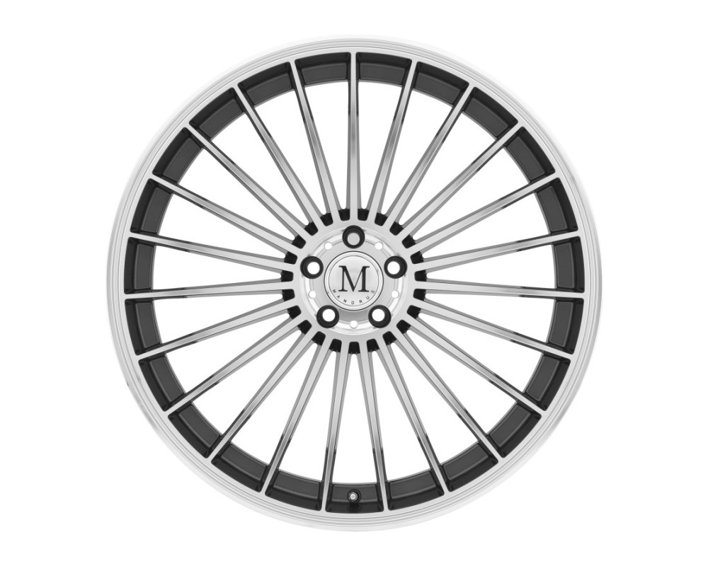 Mandrus 23 Gunmetal w/ Mirror Cut Face Wheel 17x8 5x112 42mm CB66.6 - 1780MTT425112G66