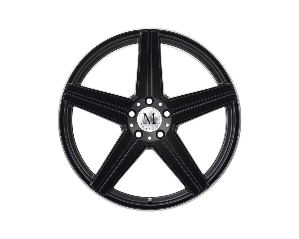 Mandrus Estrella Wheel 20x9 5x112 40mm Matte Black w/ Machine Lip Edge - 2090MAE405112M66