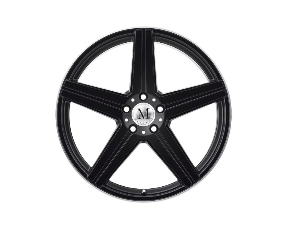 Mandrus Estrella Wheel 19x8.5 5x112 32mm Matte Black w/ Machine Lip Edge - 1985MAE325112M66