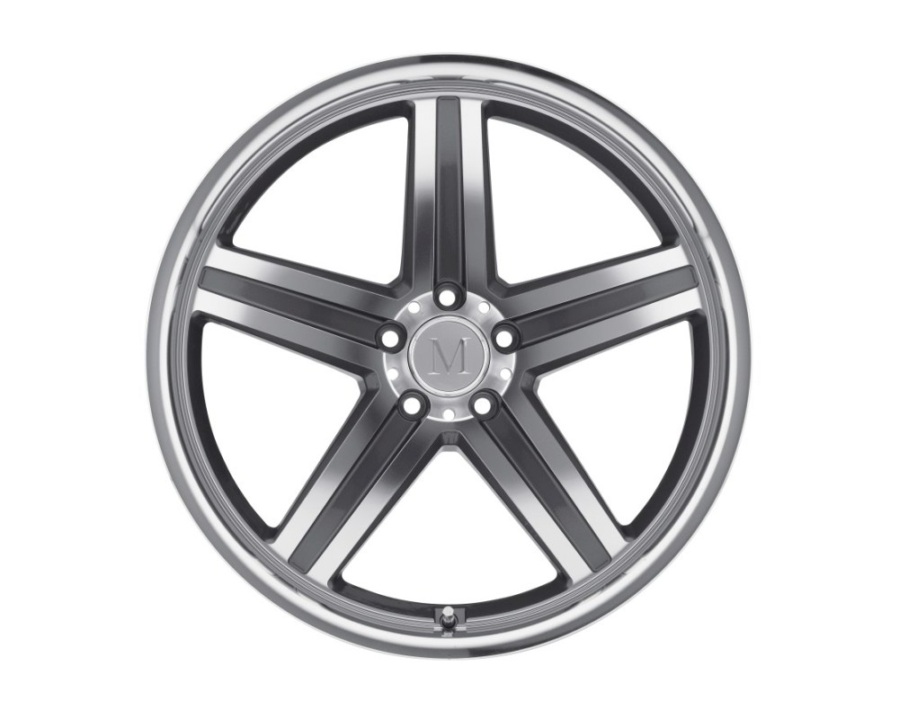 Mandrus Mannheim Wheel 20x9 5x112 39mm Gunmetal w/ Mirror Cut Face & Lip - 2090MAH395112B66