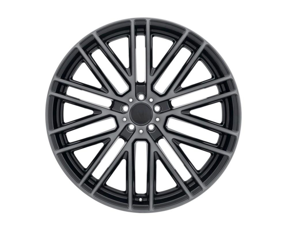 Mandrus Masche Wheel 17x8 5x112 42mm Semi Gloss Black w/ Mirror Cut Face & Translucent Clear - 1780MMA425112B66