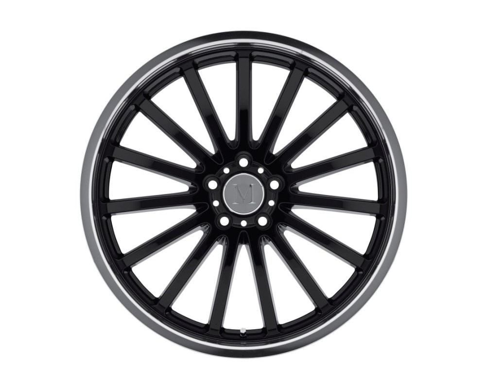 Mandrus Millenium Wheel 19x8.5 5x112 25mm Gloss Black w/ Mirror Cut Lip - 1985MAM255112B66