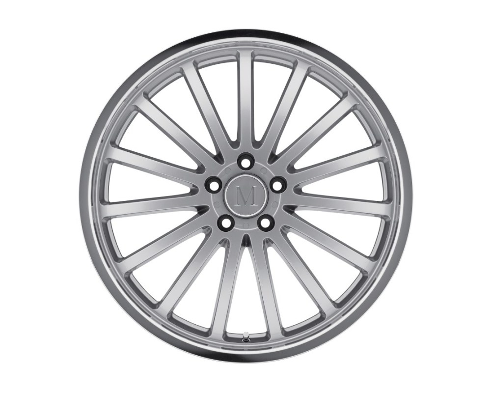 Mandrus Millenium Wheel 19x9.5 5x112 25mm Hyper Silver w/ Mirror Cut Lip - 1995MAM255112S66