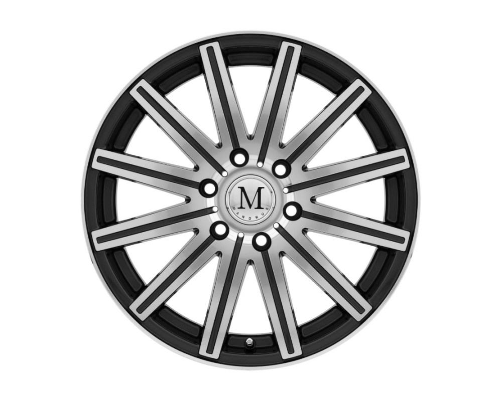 Mandrus Stark Wheel 16x7 6x130 52mm Gunmetal w/ Mirror Cut Face & Lip - 1670MAK526130G84