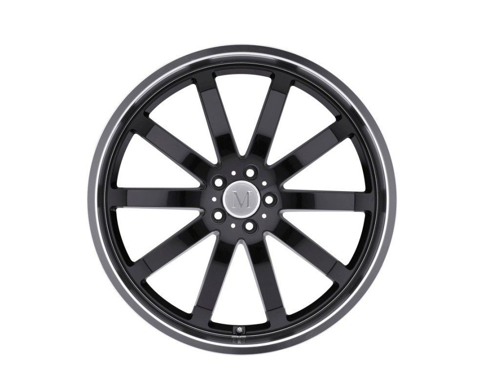 Mandrus Wilhelm Wheel 18x9.5 5x112 25mm Gloss Black w/ Mirror Cut Lip - 1895MAW255112B66