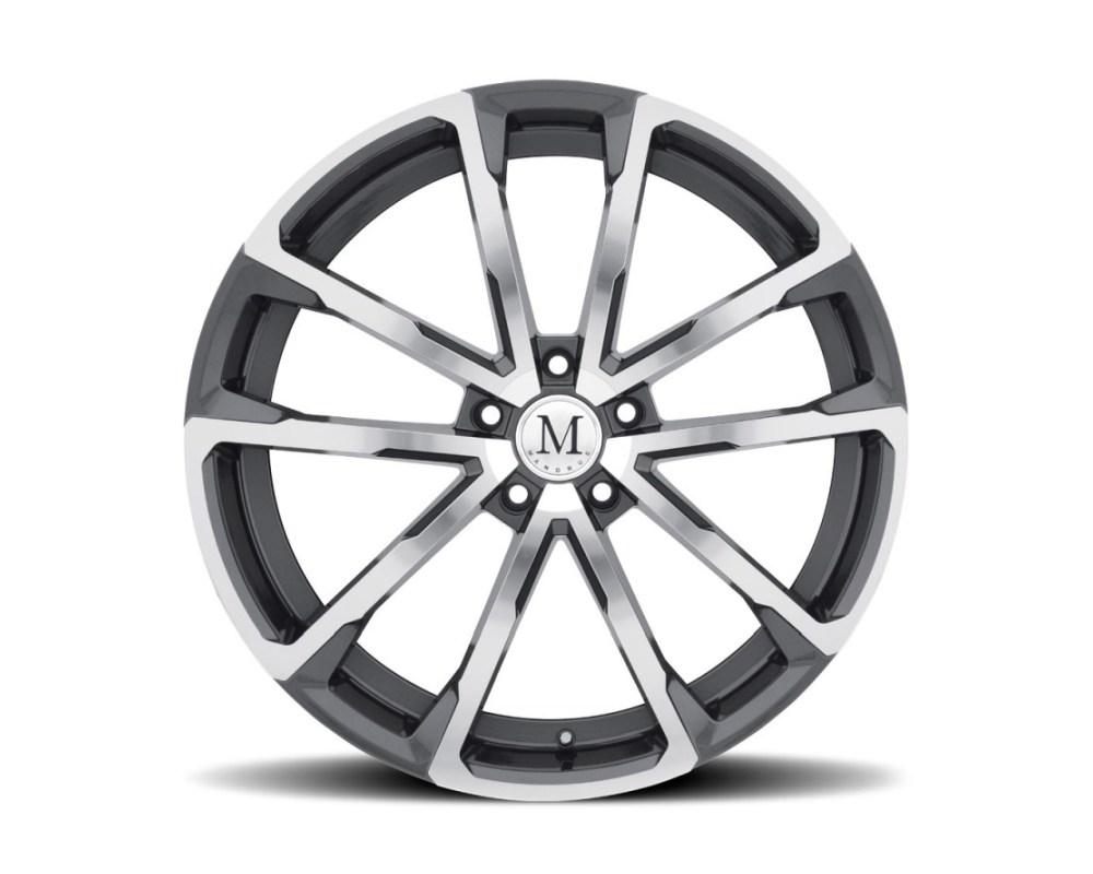 Mandrus Wolf Wheel 22x10.5 5x112 44mm Gloss Gunmetal w/ Mirror Cut Face - 2205WLF445112G66