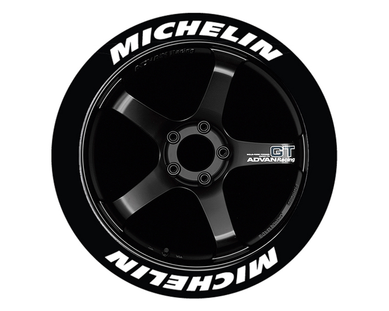 Tire Stickers Permanent Raised Rubber Lettering 'Michelin - TS-MICHELIN-RR