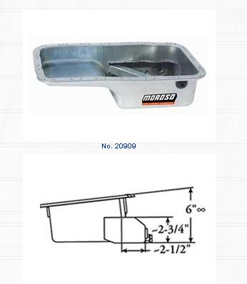 Moroso Steel Wet Sump Drag Race Oil Pan Acura Integra 1.8L 94-98 - 20909