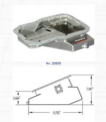 Moroso Kicked-Out Sump Oil Pan Toyota MR2 1991-1995 - 20935