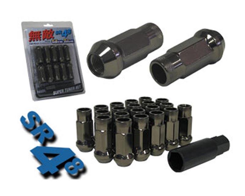 Muteki SR48 Open End Racing Lug Nuts M12x1.25 Titanium - 32905T