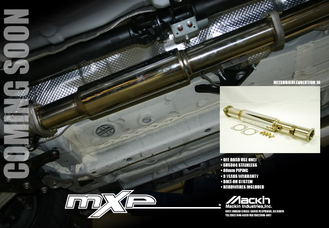 MXP Stainless Test Pipe Mitsubishi Evolution X 08-12 - MXTPCZ4AR