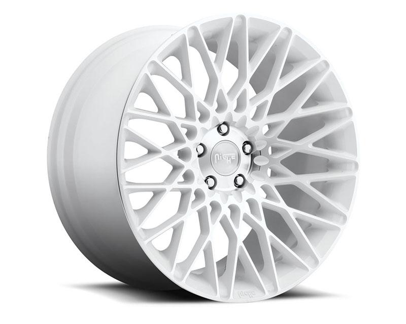 Niche Citrine M156 Gloss White & Machined Wheel 20x8.5 5x108 +40mm - M156208533+40