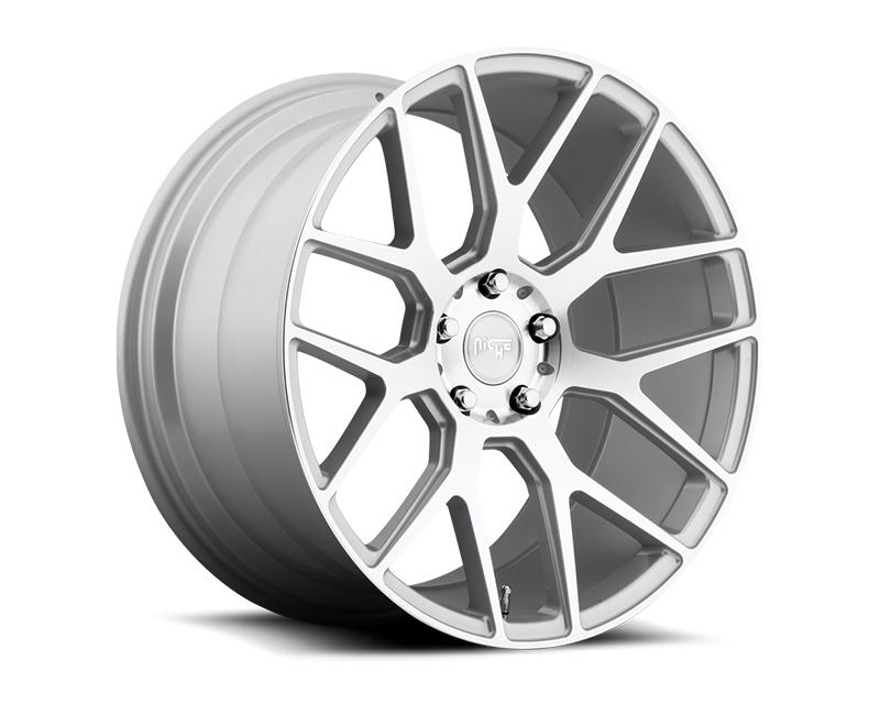 Niche Intake M160 Silver Machined Wheel 20x10.5 5x112 +32mm - M160200543+32