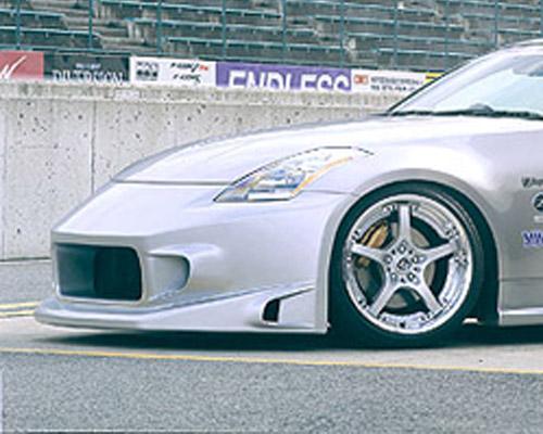 INGS N-Spec Stream Z Front Bumper FRP Nissan 350Z 03-09 - 00801-00102