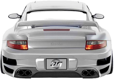 NR Auto GT Rear Bumper w/ Carbon Diffuser Porsche 997TT C4 & C4S 05-09 - 99703-RB