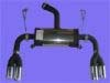 Image of Oettinger 4-Pipe Rear Silencer Audi A3 8P Sportback 05-12