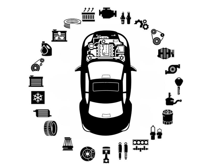 O.E.M. Suspension Ride Height Sensor Land Rover Rear Left