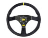 Image of OMP 320 Carbon S Flat 320mm Black Suede Steering Wheel