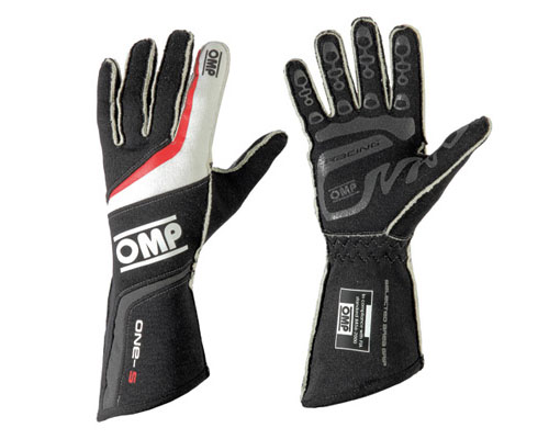OMP ONE S Racing Gloves Black | XS - IB/755/N/XS