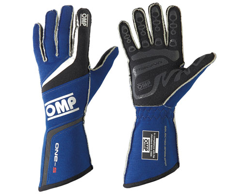 OMP ONE S Racing Gloves Blue | SM - IB/755/B/S