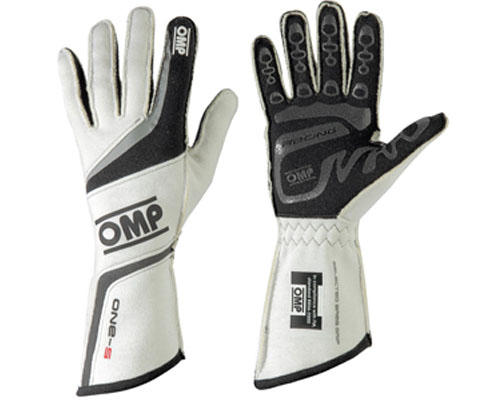 OMP ONE S Racing Gloves White | LG - IB/755/W/L