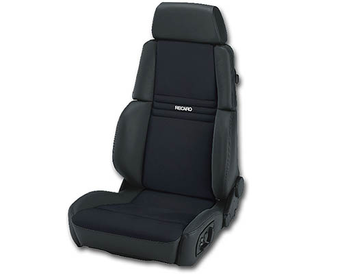 Recaro Orthoped Left Seat Black Nardo/Black Artista Grey Logo