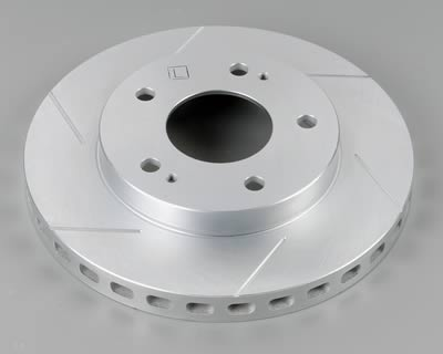 Power Slot Rear Right Cryogenic Slotted Rotors Hyundai Tiburon 03-08 - 126.51016CSR