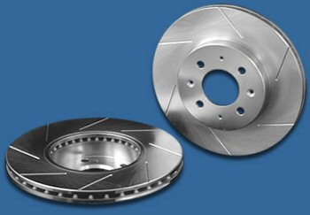 Power Slot Front Right Cryogenic Slotted Rotors Nissan 240SX 5 Lug Wheel 96-98 - 126.42064CSR