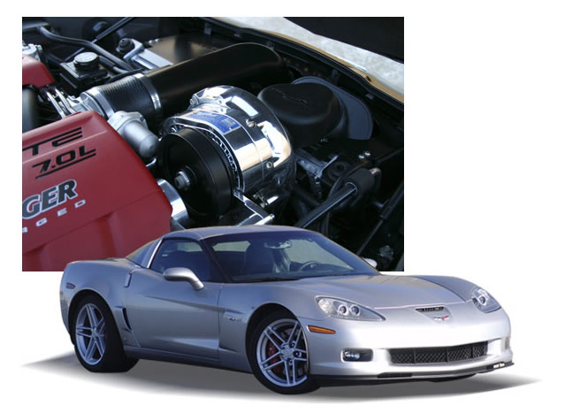 ProCharger H.O. Intercooled Supercharger System Chevrolet Corvette Z06 06-12 - 1GP214-SCI