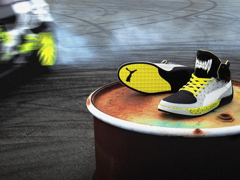 Image of Puma Global Rallycross GRC Street Mid Grafic Dave Mirra Shoes