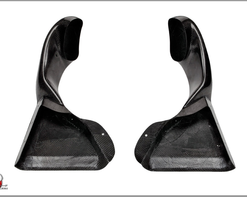 Password JDM Dry Carbon Fiber Ultimate Front Lip Brake Ducts Nissan GT-R R35 09-16 - PWCFL-R35-C01
