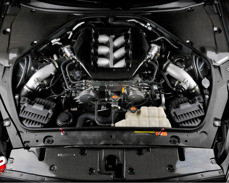 Password JDM Dry Carbon Fiber Engine Compartment Covers Nissan GT-R R35 09-18 - PWCEC-R35-C00