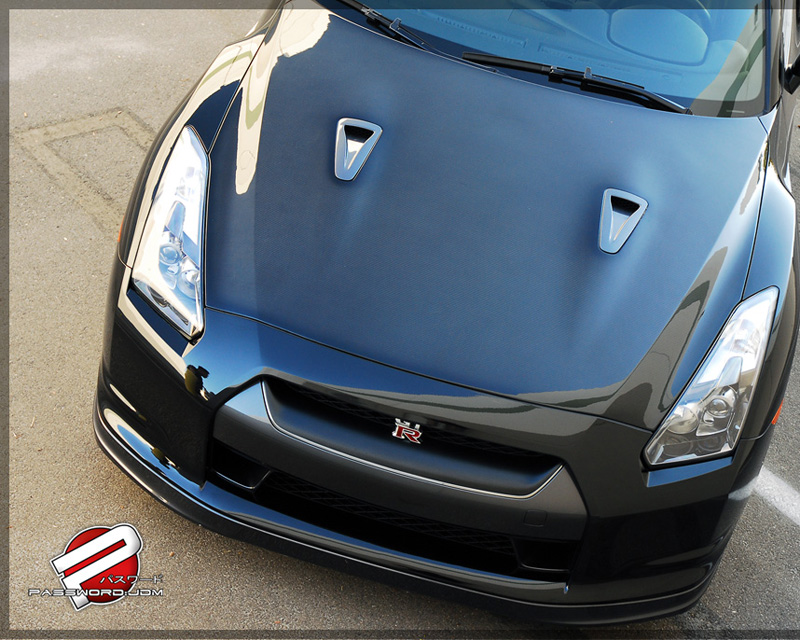 Password JDM Dry Carbon Fiber Hood Nissan GT-R R35 09-18 - PWCBH-R35-C00