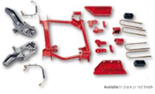 Rancho Suspension System without Air Ride 4in-3in Lift Red Finish Ford F-250 5.4L 97-04 - RS6485