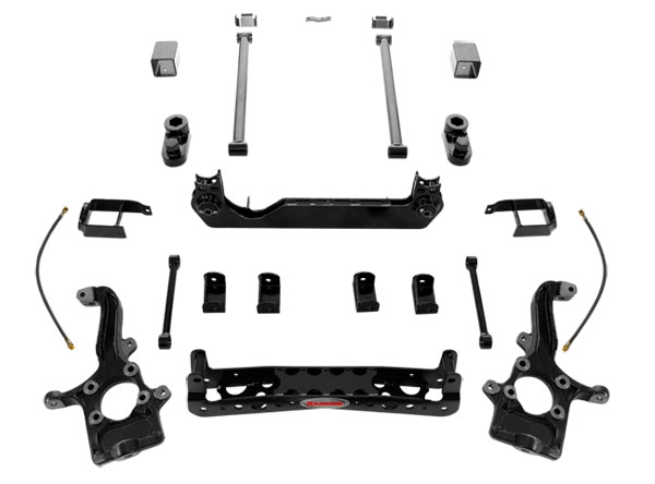 Rancho Suspension System 4in- 2.5in Lift Black Finish Chevrolet Colorado 04-08 - RS6559B