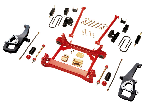 Rancho Suspension Leveling System 2in Lift Front Red Finish Dodge Ram 2500 00-01 - RS6576
