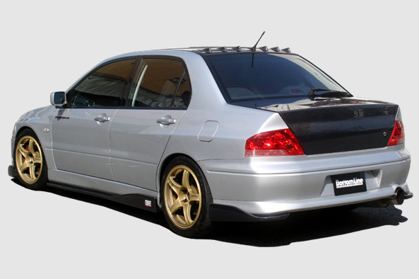 ChargeSpeed Bottom Line FRP Rear Lip Caps Mitsubishi EVO IX 06-08 - CS425RCF