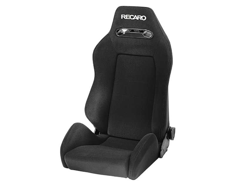 Recaro Speed M Seat Black Avus | White Logo - SPW.00.000.AA11