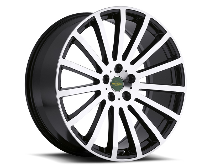 Redbourne Dominus Gloss Black with Mirror Cut Face Wheel 22x9.5 5x120 32mm - RB-2295RDM325120B72