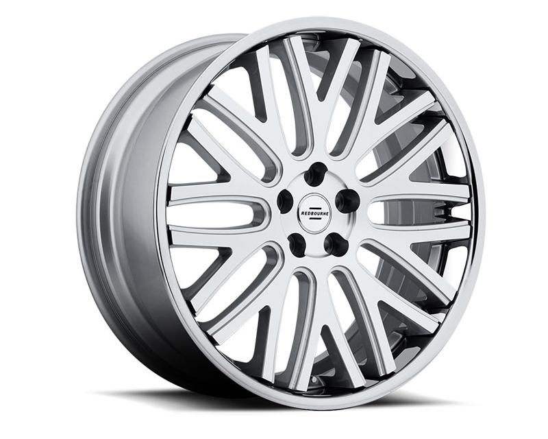 Redbourne Hampshire Silver with Machine Face & Chrome Lip Wheel 20x9.5 5x120 32mm - RB-2095RDH325120S72